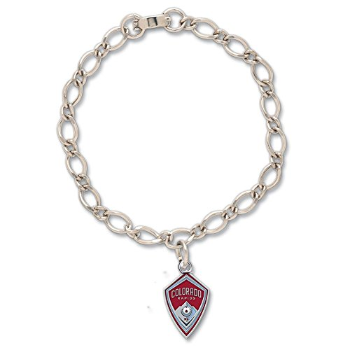 WinCraft Soccer Colorado Rapids Bracelet with Charms Clamshell