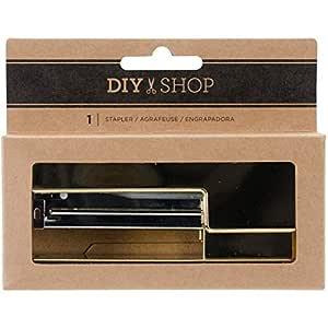 American Craft DIY Shop 4 Collection - Grapadora de Escritorio chapada en Oro (12 Unidades)