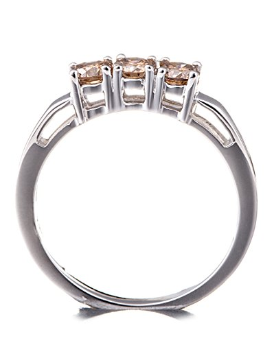 Silvancé - Bague femme - plaqués rhodium en argent sterling 925/1000 - pierres précieuses: Champagne Diamond env. 0.48ct. - R4000CHD51_SSR