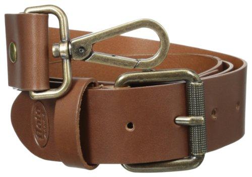 Floto Italian Calfskin Leather Belt Strap, Saddle Brown, One Size