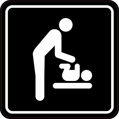5in x 5in Men's Restroom Diaper Changing Station Sticker