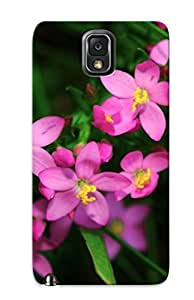 Ellent Galaxy Note 3 Case Tpu Cover Back Skin Protector Small Purple Flowers For Lovers' Gifts