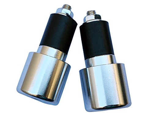 "Chrome Silver 7/8"" CNC Aluminum Handlebar End Weights Caps Plugs Sliders for 2012 Suzuki Vstrom 650"
