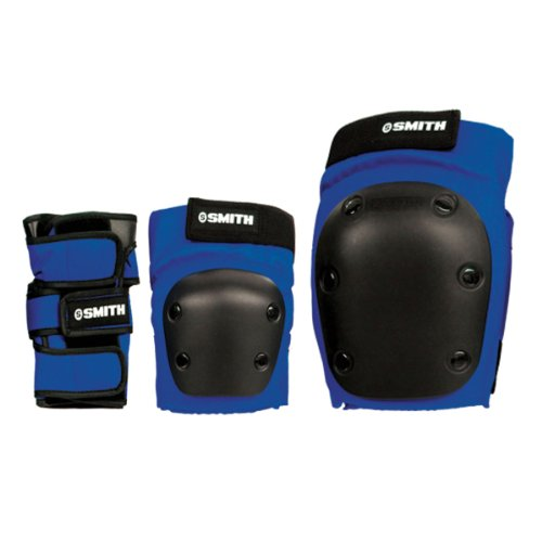 Smith Safety Gear Scabs Knee/Elbow/Wrist Guard Set , Blue, M