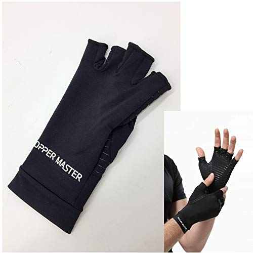 Arthritis Gloves for Men Women- Copper Infused Compression Best Heal Fit- Relieve for Carpal Tunnel, Swollen Painful Hands, Computer Typing, Everyday Support and More- Openfinger M