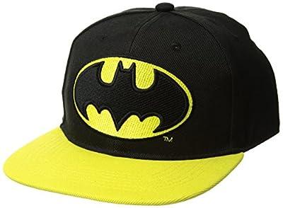 DC Comics Men's Batman Baseball Cap with PVC Emblem, Embroidered, Adjustable, Black, One Size from DC Comics