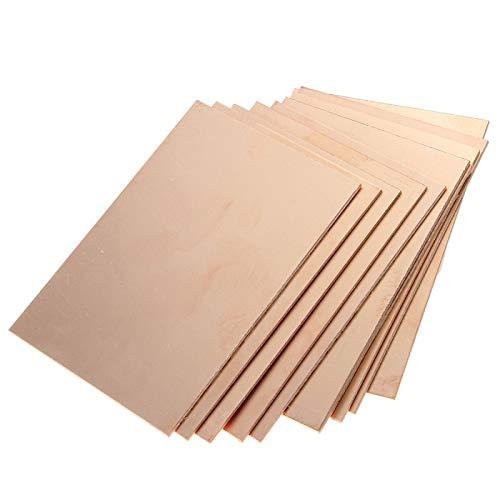 5 St/ück//Packung 10 x 15 FR4 Fiberglasplatte 10 x 15 cm PCB einseitig Prototype Board DIY Laminat gedruckte Leiterplatte elektronische Platte