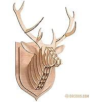 Dacoris Lars, Il Cervo | Legno | Testa di Cervo | DIY Modello 3D | Testa di Animale | Animale Decorativo | Teste Animali Decorazione | Animali di Legno | Design E Decorazione da Parete