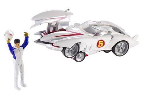 Hot Wheels Deluxe Mach 5 & Speed Racer Action Figure 2 Vehicles in (Speed Racer Deluxe Racer)
