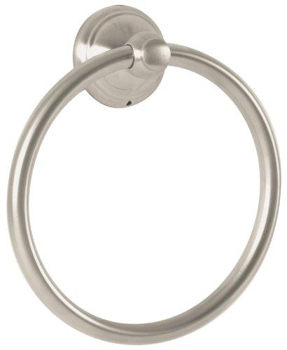 Hansgrohe Nickel Holder - Hansgrohe 06095820 C Towel Ring, Brushed Nickel