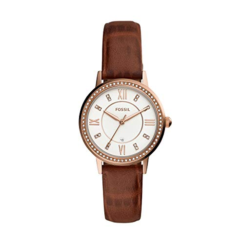 Fossil Women's Gwen Stainless Steel Quartz Watch with Leather Strap