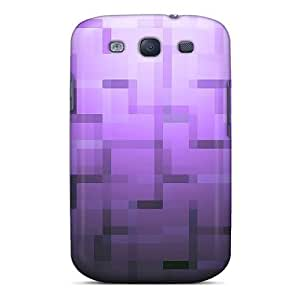 High Grade Cynthaskey Flexible Tpu Case For Galaxy S3 - Purple Abstract