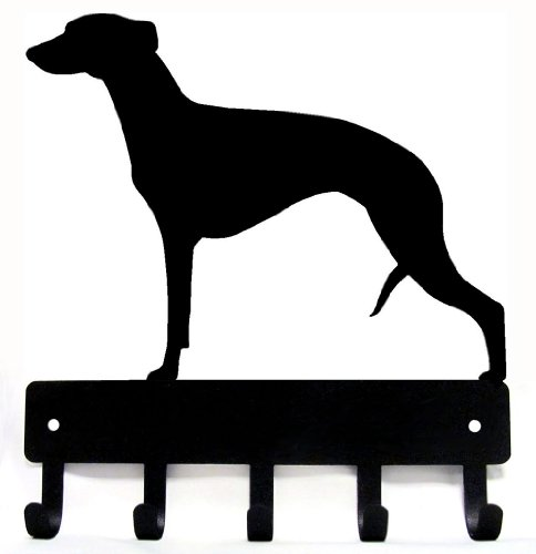 Whippet Key Rack & Dog Leash Hanger - Small 6 inch