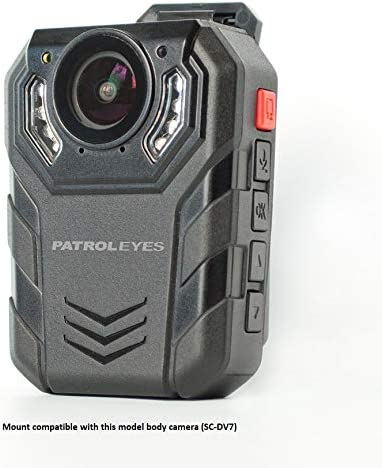 Pictured PatrolEyes klick Fast Quick Release Police Body Camera Magnet Chest Mount for PatrolEyes DV1-2