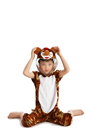 Children's Animal Clothing Halloween Cosplay Jumpsuitstage Costumes,Tiger,120cm