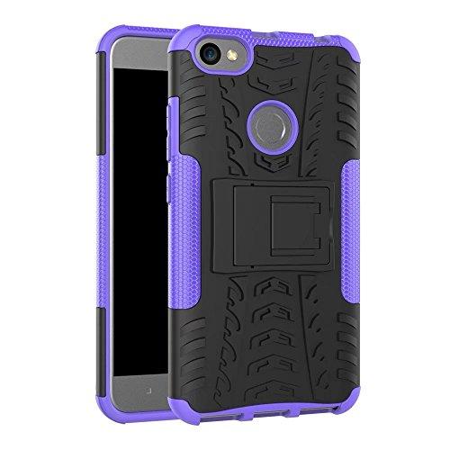 YHUISEN Hyun patrón de doble capa de armadura híbrida Kickstand 2 en 1 caso de la cubierta de choque para Xiaomi Redmi Nota 5A / Redmi Nota 5A Prime ( Color : Red ) Purple