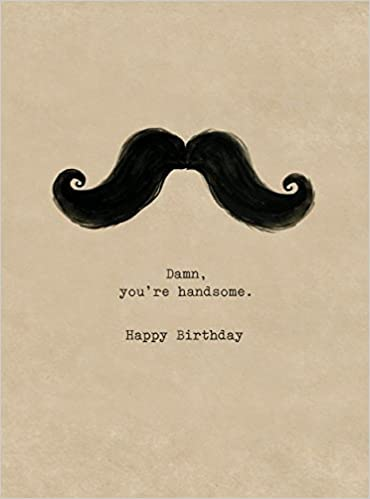 Handlebar Mustache 6 Cards Individually Bagged With Envelopes