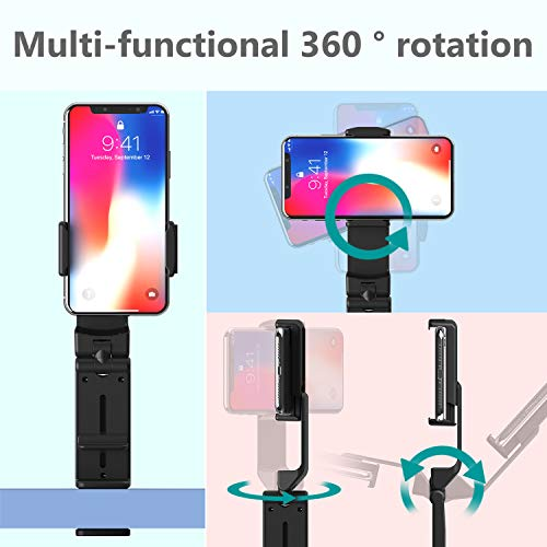 Phone Stand MiiKARE Universal Mount Phone Holder 360 Degree Rotating Adjustable Phone Clamp Compatible with iPhone X XS XR 8Plus Android Phones Portable Phone Mount for Airplane Trays Desk Bed Cabinet Photo #3