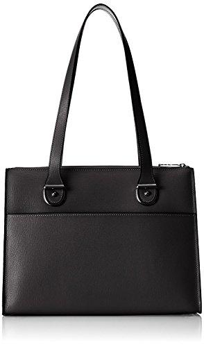 Authentic Discount Handbags (Jack Georges Chelsea Collection Large Top Zip Handbag in Black)