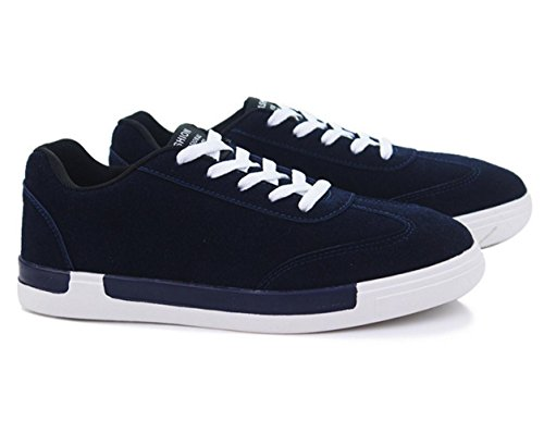WZG nuevos zapatos de deporte de invierno de los hombres de los zapatos ocasionales de los deportes cómodos zapatos zapatos corrientes de los hombres respirables de los estudiantes Blue