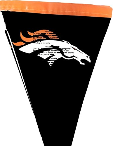 Creative Converting Officially Licensed NFL Plastic Flag Banner, 12', Denver Cowboys