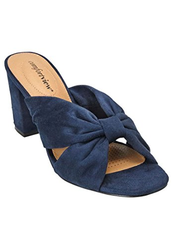 Comfortview Womens Wide Mika Sandals Navy a7eHoyd7ak