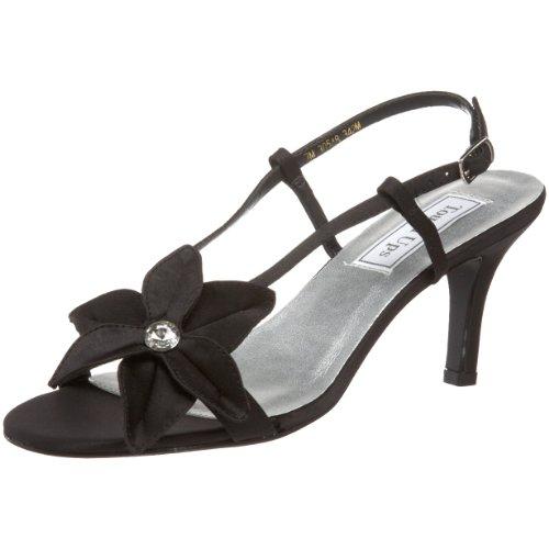 Touch Ups Women's Cheyenne Slingback Sandal,Black Satin,7.5 M (Touch Ups Mid Heel Sandals)