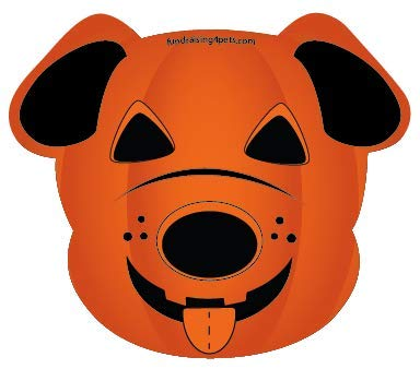 Dog Jack O'Lantern Pumpkin Halloween dog head magnet]()