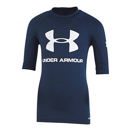 Under Armour Big Boys' Ua Comp Short Sleeve T-Shirt Rashguard, Academy, Medium rash guard under armour 12
