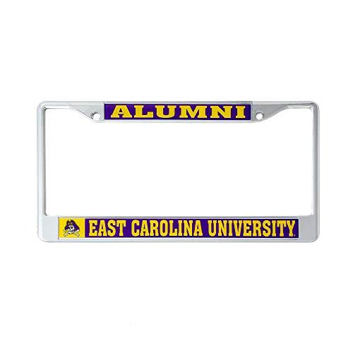 Desert Cactus East Carolina University Alumni Metal License Plate Frame for Front Back of Car Officially Licensed ECU Pirates -