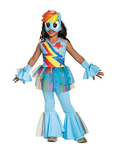 Rainbow Dash Movie Deluxe Costume, Blue, Medium (7-8)]()