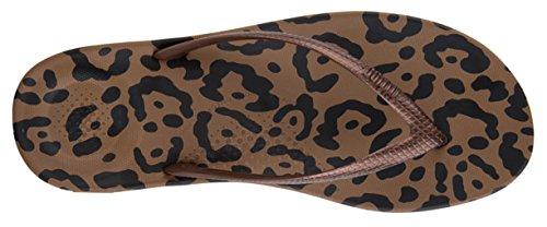 Fitflop Kvinna Iqushion Super Ergonomisk Vippor Brons Leopardmönster