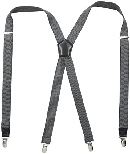 Dockers Men's Textured Solid Suspender,Gray,One Size by Dockers