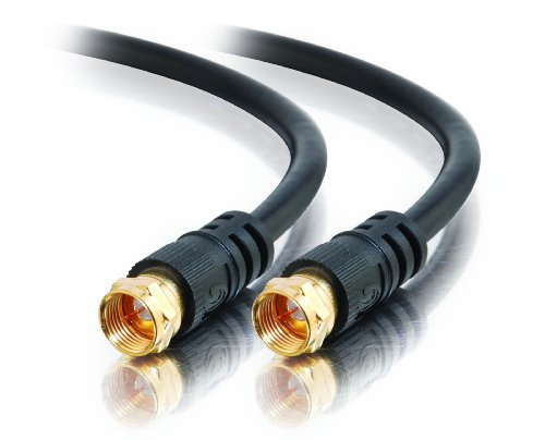 (C2G 27032 F-Type RG59 Composite Audio/Video Cable, Value Series, Black (25 Feet, 7.62 Meters))