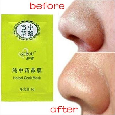 5 x Herbal Nose Pore Conk Mask Remove Blackheads Deep Cleansing Strips