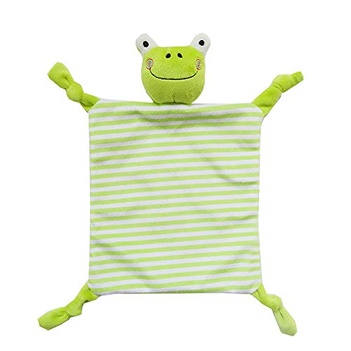 Guoainn Appease Towel for Baby Cute Cartoon Animal Plush Doll Newborn Infant Baby Sleep Appease Towel Blanket Frog