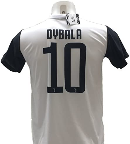 Camiseta de fútbol Paulo Dybala 10, la joya de la Juventus, réplica autorizada 2017-2018, para niño (tallas 2, 4, 6, 8, 10, 12), adulto (S, M, L, XL), 12 años: Amazon.es: Deportes y aire libre