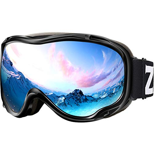Zionor Lagopus Ski Snowboard Goggles UV Protection Anti-Fog Snow Goggles for Men Women Youth (Skis Downhill Womens)