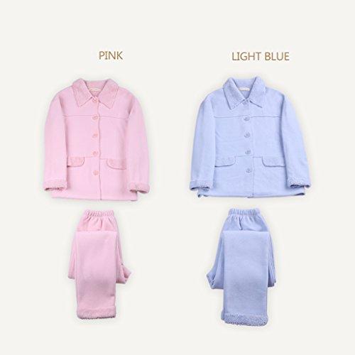 Larga Servicio Calientes Del Manga A Pueden Pijamas Engrosamiento El Blue Trajes Hogar Para Las Se De Usar Ropa Domicilio La Mujeres qZzvPtzxn