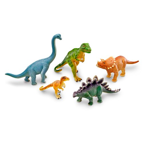 Learning Resources Jumbo Dinosaurs, 5 Pieces (Jumbo 9 Piece)