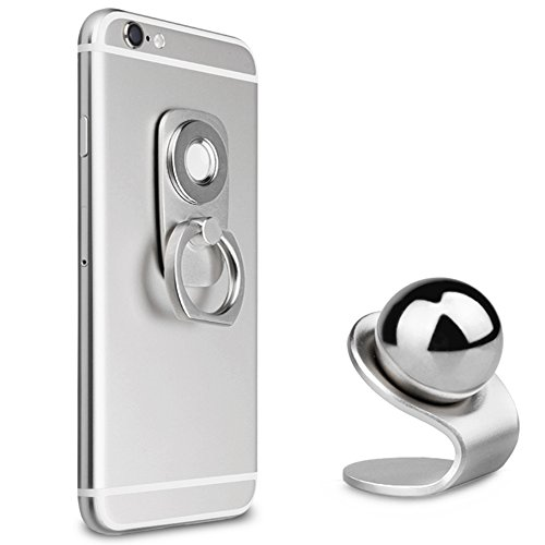 B-Land Magnetic Phone Holder 2 in 1 Phone Ring Stand & Car P