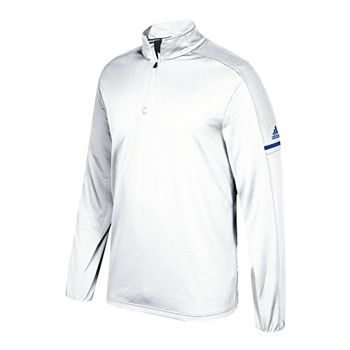 adidas Game Built Long Sleeve Quarter White-collegiate Royal discount 2014 newest with mastercard cheap online yEOVNmLSL