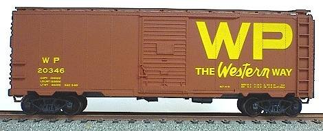 Accurail AAR 40' Single-Door Steel Boxcar - Kit (Plastic) -- Western Pacific (Oxide) (Door Single Aar Boxcar)