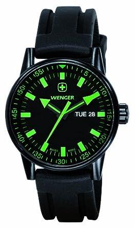 Wenger 70172 - Reloj de Caballero de Cuarzo, Correa de Goma Color Negro: Wenger: Amazon.es: Relojes