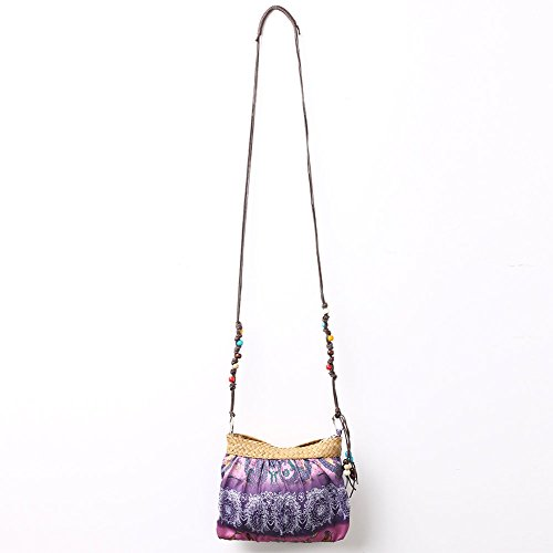 Fashion Women Beach Bag Purse Crossbody Cloth Bag Bohemian Boho Ethnic Print - Vero Outlets Fashion Beach