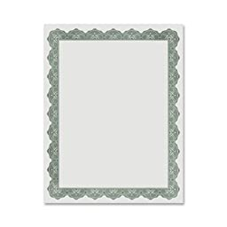 Geographics Royal Optima Green Certificates and Seals, 8.5 x 11 Inches, Pack of 25 (39452)