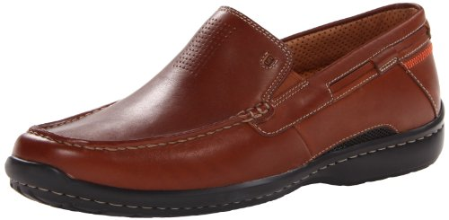 Clarks Mens Sand Mocassino In Pelle Color Cuoio