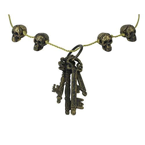 Largemouth Skeleton Key Necklace Costume