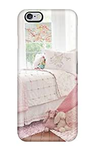 For Iphone 6 Plus Tpu Phone Case Cover(pink And White Girl8217s Room With Play Teepee)