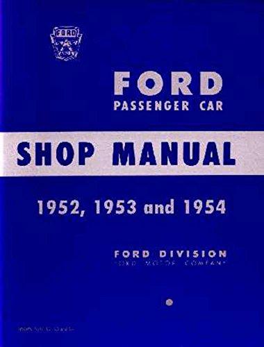 (bishko automotive literature 1952 1953 1954 Ford Fairlane T-Bird Shop Service Repair Manual Book Engine )